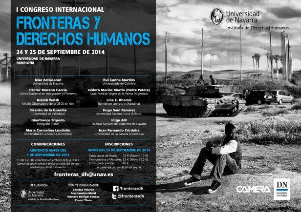 Afiche Congreso UNAV Fronteras DDHH